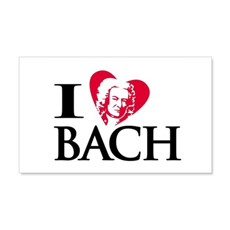 I Love Bach 20x12 Wall Peel