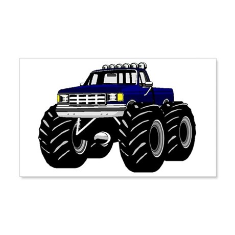 BLUE MONSTER TRUCK 20x12 Wall Peel