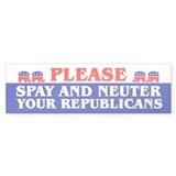SPAY AND NEUTER Bumper Bumper Sticker