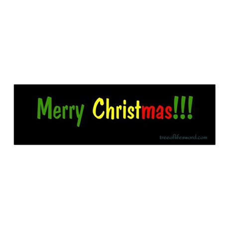 Merry Christmas bumper sticker 20x6 Wall Peel