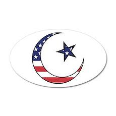 American Muslim 35x21 Oval Wall Peel