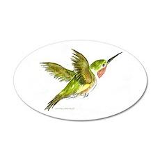 Hummingbird 20x12 Oval Wall Peel