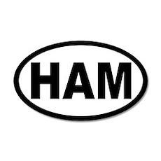 Ham Amateur Radio 20x12 Oval Wall Peel