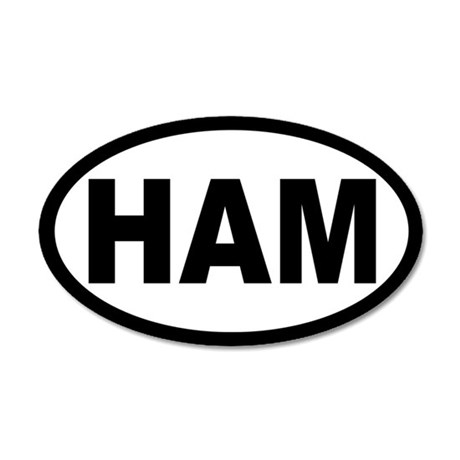 Ham Amateur Radio 35x21 Oval Wall Peel