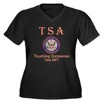 TSA Women's Plus Size V-Neck Dark T-Shirt