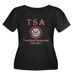 TSA Women's Plus Size Scoop Neck Dark T-Shirt