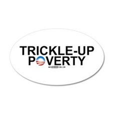 Trickle-Up Poverty 35x21 Oval Wall Peel