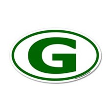 "Green ""G"" Oval Car Sticker"
