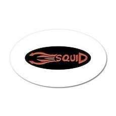 Squid Logo Red 35x21 Oval Wall Peel