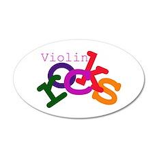 Violin Rocks 35x21 Oval Wall Peel