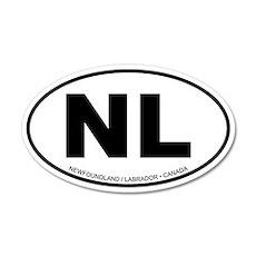 Newfoundland - Labrador 20x12 Oval Wall Peel
