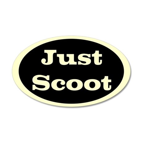 Just Scoot 20x12 Oval Wall Peel