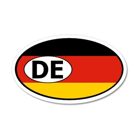Germany Flag 20x12 Oval Wall Peel