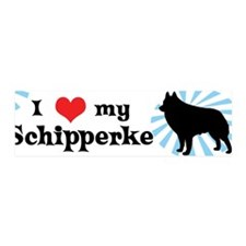 I Love My Schipperke 36x11 Wall Peel