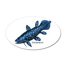Coelacanth 35x21 Oval Wall Peel
