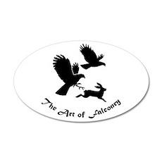 Art of Falconry-HH 35x21 Oval Wall Peel