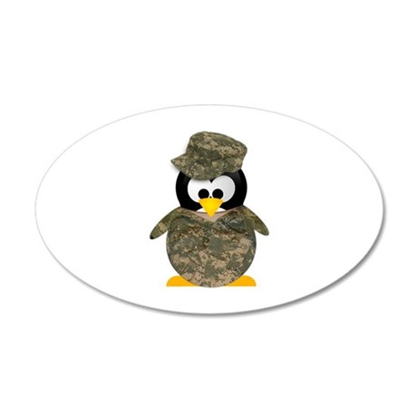 Army Penguin 20x12 Oval Wall Peel