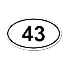 43 20x12 Oval Wall Peel
