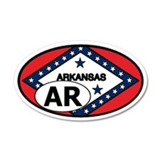 Arkansas State Flag 35x21 Oval Wall Peel