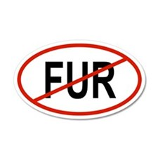 FUR 35x21 Oval Wall Peel