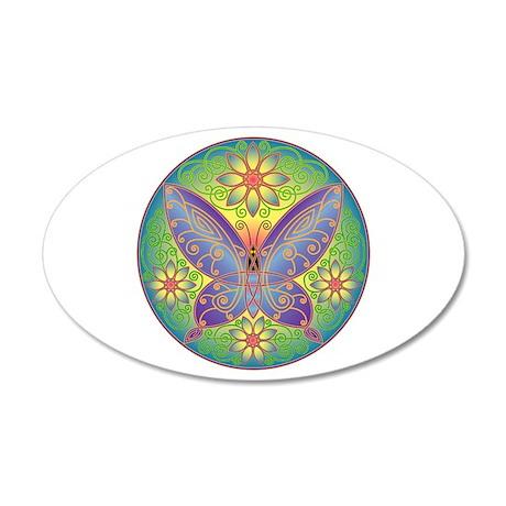 Celtic Butterfly (violet) 35x21 Oval Wall Peel