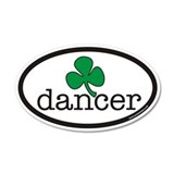 Irish Dancer Euro 20x12 Oval Wall Peel