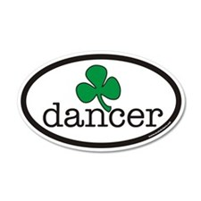 Irish Dancer Euro 35x21 Oval Wall Peel