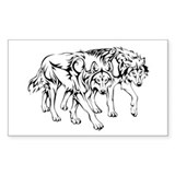 Cute Wolf mix Decal