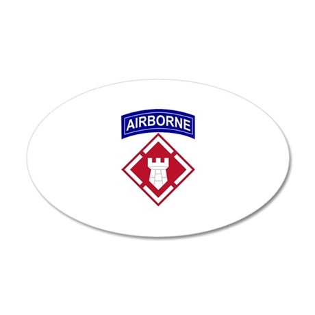 20th Engineer Airborne 35x21 Oval Wall Peel