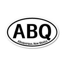 Albuquerque, New Mexico 20x12 Oval Wall Peel