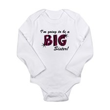 I'm going to be a big sister Long Sleeve Infant Bo