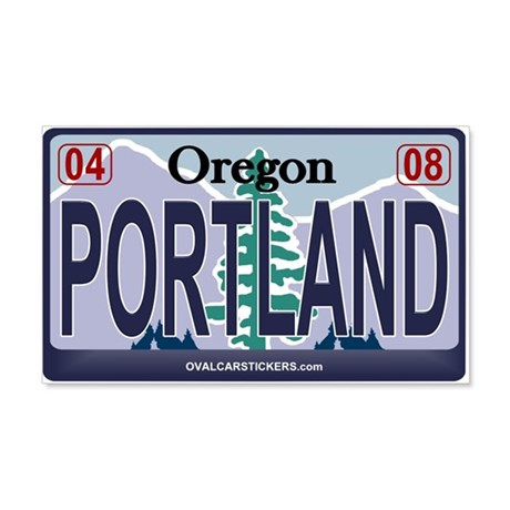 Oregon Plate - PORTLAND 20x12 Wall Peel