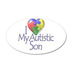 My Autistic Son 20x12 Oval Wall Peel