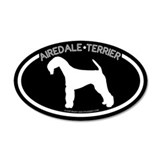 """Airedale Terrier"" Black 20x12 Oval Wall Peel"