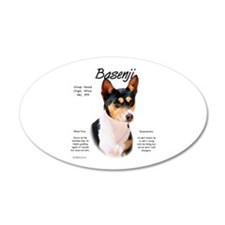 Basenji (tricolor) 20x12 Oval Wall Peel