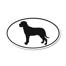 Greater Swiss Mountain Dog 20x12 Oval Wall Peel