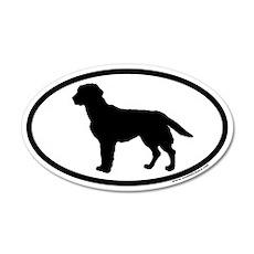 Black Labrador Retriever Euro 20x12 Oval Wall Peel