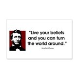 Thoreau. Live your beliefs... Sticker (Rectangular