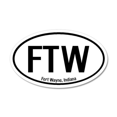 Fort Wayne, Indiana 20x12 Oval Wall Peel