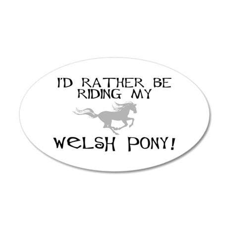 Rather-Welsh Pony! 20x12 Oval Wall Peel