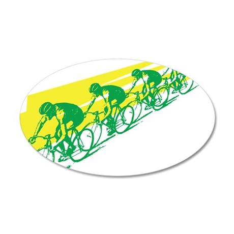 TOUR DE FRANCE CYCLISTS 20x12 Oval Wall Peel
