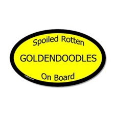 Spoiled Goldendoodles On Board 35x21 Oval Wall Pee