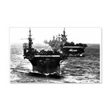 WWII AIRCRAFT CARRIERS 20x12 Wall Peel