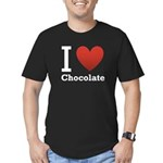 I Love Chocolate Men's Fitted T-Shirt (dark)