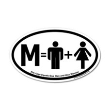 Marriage Equals One Man and One Woman Wall Decal
