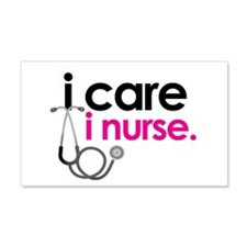 i care i nurse pink 20x12 Wall Peel