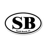 South Beach SB Euro Oval 20x12 Oval Wall Peel