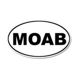 MOAB Mountain Biking 20x12 Oval Wall Peel