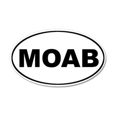 MOAB Mountain Biking 35x21 Oval Wall Peel