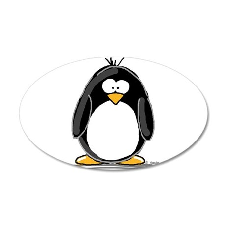 Penguin 20x12 Oval Wall Peel
